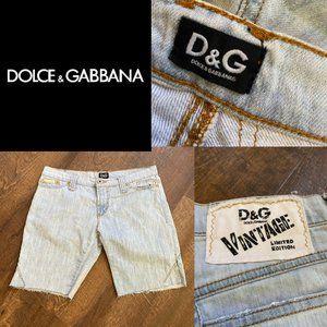 D&G Limited Edition Light Wash Cutoffs - Size 29